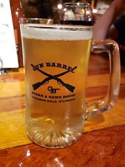 Beer At The Gun Barrel (Joe Shlabotnik) Tags: jackson beer galaxys9 2019 august2019 mug wyoming gunbarrel cameraphone