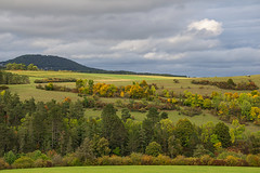 autumn comes slowly (Woewwesch) Tags: autumn landscape colors aremberg ahrtal outdoor walk hills trees clouds