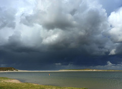 De Slufter  Texel (Ger Veuger) Tags: texel deslufter zee sea wolken clouds kust coast duinen dunes