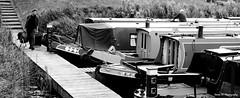 Narrow Escape. Sept 2019 (Simon W. Photography) Tags: canal narrowboat narrowboats canalboat boat boats barge widebeamcanalboat barges dutchbarge canalrivertrust theinlandwaterwaysassociation water canalandrivertrust inlandwaterways river rivertrent sonyrx10iv sonyrx10m4 sonyuk sony sonydscrx10m4 blackandwhite blackwhite monochrome monotone greyscale grayscale bw bnw nocolour nocolor lightandshadow sonyflickraward