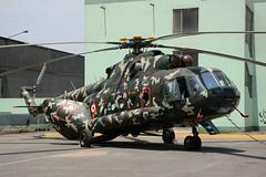 EP645 Mil Mi-8MTV-1 SPJC 08-11-14 (MarkP51) Tags: ep645 mil mi8mtv1 mi8 hip peruvianarmy lima jorgechavez international airport lim spjc peru southamerica military aircraft airplane plane image markp51 nikon d7100 sunshine sunny