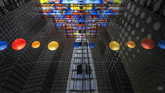 Inception (Bram de Jong) Tags: abstract colours sphere reflection beeldgeluid soundvision fujifilmxt3 perspective hilversum holland