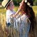 Tendresse Dans les champs de blé -Tiago et Maman