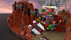 Battle  -   Separator-class Star Destroyer (L-DI-EGO) Tags: lego starwars ucs space toy brick separator battle joke microscale moc tie awing