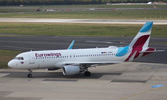 Eurowings D-AEWV Airbus A320-214 flight EW9541 arrival at Dusseldorf DUS Germany from Ibiza IBZ (Cupertino 707) Tags: eurowings daewv airbus a320214 flight ew9541 arrival dusseldorf dus germany from ibiza ibz