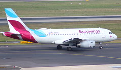 Eurowings D-AGWC Airbus A319-132 flight EW9464 departure from Dusseldorf DUS Germany bound for London Heathrow LHR England UK (Cupertino 707) Tags: eurowings dagwc airbus a319132 flight ew9464 departure from dusseldorf dus germany bound for london heathrow lhr england uk
