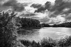 Als kleur er niet toe doet (aj.lindeboom) Tags: zwartwit landschap wolken