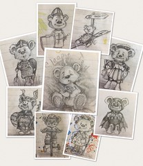 Little Ted Doodles (Andreadm66) Tags: henryviii littleted drawing pencildrawing art sketch doodle