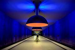 Riding the U Bahn (1) (WayneG58) Tags: fujixt2 architecture street lowlight subway germany munich ubahn u1