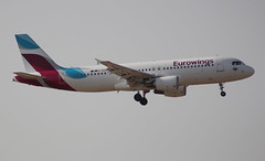 Eurowings D-AEUE Airbus A320-214 flight EW590 arrival at Palma PMI Spain from Cologne Bonn CGN Germany (Cupertino 707) Tags: eurowings daeue airbus arrival palma pmi spain a320214 flight ew590 from cologne bonn cgn germany