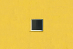 Little window (Jan van der Wolf) Tags: map17932vv window raam yellow geel facade gevel architecture architectuur simple simpel minimalism minimalistic minimalisme minimal minimlistic