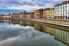 Lungarni di Pisa (2) (Eugenio GV Costa) Tags: approvato lungarno pisa fiume arno toscana acqua water river streets outside nuvole