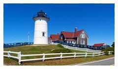 Nobska Lighthouse (Timothy Valentine) Tags: lighthouse large 0919 friday 2019 fence woodshole massachusetts unitedstatesofamerica