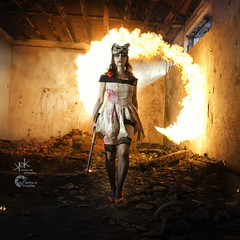 Clair De Lune Cosplay as Splicer from Bioshock shot by SpirosK photography (SpirosK photography) Tags: clairdelunecosplay portrait fire playingwithfire cosplay bioshock splicer voltaincosplay2019 voltaincosplay clairdelune spiroskphotography game videogame videogamecharacter female bioshock2 zombie