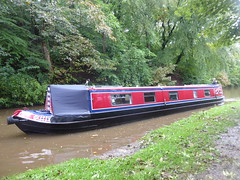 Barge approaching Lock No1, Marple.  (Peak Forest Canal)   September 2019 (dave_attrill) Tags: barge bottomlock marple peakforest canal towpath peakdistrict nationalpark cheshire cheshirering oldknow september 2019 thomastelford