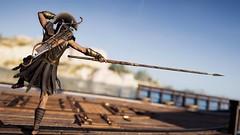 Spear lunge (Ma_045) Tags: spear training landscape kassandra ingamephotography ingamephoto virtualphotography digitalart assassinscreedodyssey assassinscreed boat ancientgreece lunge trainingsession fight virtualphoto