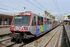 ERT-023-ETR-104-Sorrento-Italy-19-9-2019 (D1021) Tags: ert023 ert104 emu metergauge sorrento sorrentostation italy italianrailway d300 nikond300