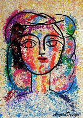 After Pablo Picasso N72 (Angela.B) Tags: polymerclay polymer picture picasso art artinterpretation colorful clay creation combination clayfimo colorfulmulticolor coloredpencil fimo