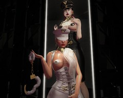 Knife edge - Military kink series (ticttac resident) Tags: femdom kink secondlife virtual world cuff sexy