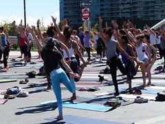 Street yoga (wwimble) Tags: street yoga streetyoga intersection openstreetscolumbus 2014 downtown columbus ohio button