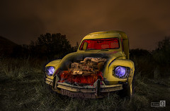 Clasicos de la Noche (Citroen amarillo) (JoseQ.) Tags: