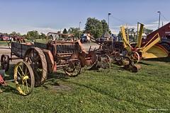 The  Line-up (gabi-h) Tags: farmmachinery farmequipment vintage antique historical milford milfordfallfair gabih princeedwardcounty blue green grass september