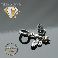 Charms Mielina abeille en argent 925 (olivier_victoria) Tags: argent 925 charms abeille charm charme mielina