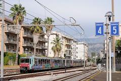 ERT-113-ETR-093-Sorrento-Italy-19-9-2019 (D1021) Tags: ert113 ert093 emu metergauge sorrento sorrentostation italy italianrailway d300 nikond300