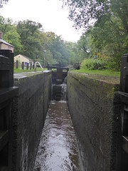 P1480824.   Lock-ing out for No1, Marple.   (Peak Forest Canal)   September 2019 (dave_attrill) Tags: lockgates gates marple peakforest canal towpath peakdistrict nationalpark cheshire cheshirering oldknow september 2019 thomastelford