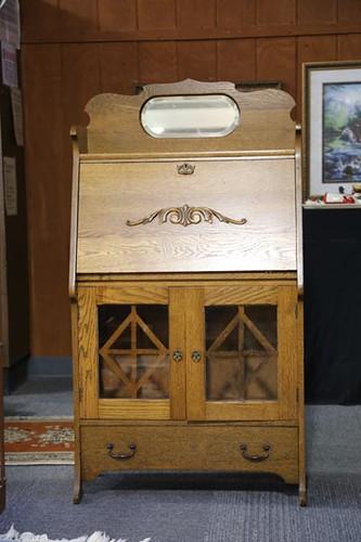 Oak Larkin desk ($420.00)