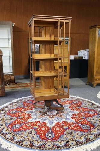 Nice Danner oak revolving bookcase with 4 shelves ($4,144.00)