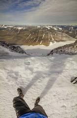 DSC06301-KebTop_LookingOverSteepEdge (RobNDub) Tags: arctic sweden kungsleden padjelantaleden sarek 2019 hiking free wild camping ultralight landscape photography aurora borealis summit skierffe stf hut