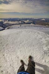 DSC06289-StandingOnKeb_LookingAtNewShelterHut (RobNDub) Tags: arctic sweden kungsleden padjelantaleden sarek 2019 hiking free wild camping ultralight landscape photography aurora borealis summit skierffe stf hut