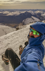 DSC06220-SittingOnTopOfKeb_ViewToKungsledenValley (RobNDub) Tags: arctic sweden kungsleden padjelantaleden sarek 2019 hiking free wild camping ultralight landscape photography aurora borealis summit skierffe stf hut