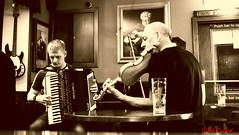 Da Lounge 1 (red.richard) Tags: pub lerwick shetland isles fiddle accordion bw music da lounge nikon d3300