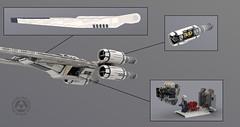UCS UT-60D U-Wing Details (Mr_Idler) Tags: lego starwars moc rogueone uwing ucs