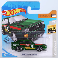 HOT-2019-043-Audi-Quattro-green (adrianz toyz) Tags: hot wheels 2019 series diecast toy model car adrianztoyz audi sport quattro 84 1984 43 bajablazers