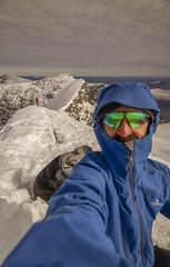 DSC06247-OnTopOfKeb_ViewToNordtoppen_Climbers (RobNDub) Tags: arctic sweden kungsleden padjelantaleden sarek 2019 hiking free wild camping ultralight landscape photography aurora borealis summit skierffe stf hut