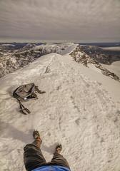 DSC06257-StandingOnTheTopOfKebnekaise (RobNDub) Tags: arctic sweden kungsleden padjelantaleden sarek 2019 hiking free wild camping ultralight landscape photography aurora borealis summit skierffe stf hut