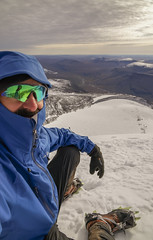 DSC06206-SittingOnTopOfKeb_ViewToNikkaluokta (RobNDub) Tags: arctic sweden kungsleden padjelantaleden sarek 2019 hiking free wild camping ultralight landscape photography aurora borealis summit skierffe stf hut