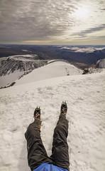 DSC06190-SittingOnKebnekaise (RobNDub) Tags: arctic sweden kungsleden padjelantaleden sarek 2019 hiking free wild camping ultralight landscape photography aurora borealis summit skierffe stf hut