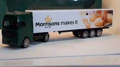 HTI DAF XF ARTICULATED TRUCK MORRISONS MAKES IT 1/64 (ambassador84 OVER 15 MILLION VIEWS. :-)) Tags: hti dafxf truck diecast