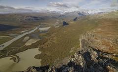 DSC05659-SkierffeViewIntoRapadalen_silty_river_delta (RobNDub) Tags: arctic sweden kungsleden padjelantaleden sarek 2019 hiking free wild camping ultralight landscape photography aurora borealis summit skierffe stf hut rapadalen