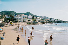 R5-01146-011A (osangster) Tags: photography portra spain coastline colourfilm kodak 35mmfilm 35mm 55mm barcelona travel skateboarding