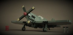 Commission : P-51B Mustang (Sydag) Tags: lego moc warbird warbirds warplane wwii aircraft mustang cadillacoftheskies