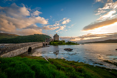 Sunset at Eilean Donan Castle (dannygreyton) Tags: eileandonancastle scotland highlands castle sunset clouds fujifilmxt2 fujifilm fujinon1024mm fujifilmxseries jamesbond longexposureshot longexposure landscape landscapephotography travel europe england roadtrip