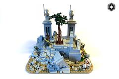 Jedi Memorial (darth85) Tags: swlego legosw lego jegi star wars starwars memorial statue ruin force tree