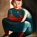 Sarah Affonso Portrait (c.1969) - José de Almada Negreiros (1893-1970)