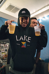 Grieves with beers (M///S///H) Tags: albuquerquenewmexico ps rx1 artists greenroom grieves hangingout launchpad musicians newmexico pointandshoot rap rapper rhymesayers rhymesayersentertainment sony sonyrx1 venue