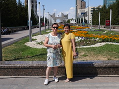 This Russian woman and here Kazakh friend wanted me to take theyre pictures.